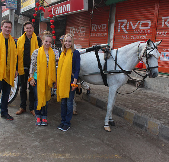 Foreigners visit lahore